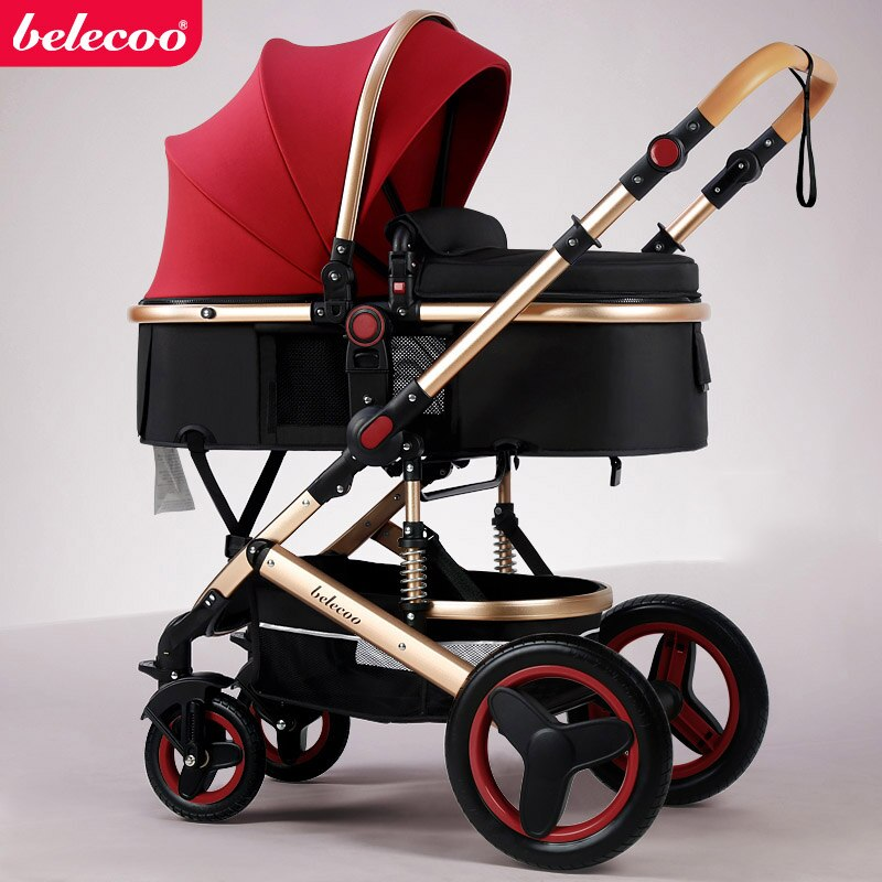 belecoo baby stroller High landscape 2 in 1 baby car two ...